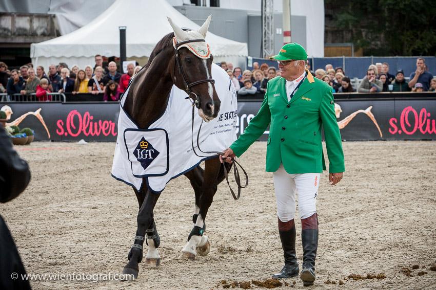 Vienna Masters 2016 Wien Krieau Foto: Chris Hofer, Thomas Frühmann mit seinem Pferd Sixth Sense